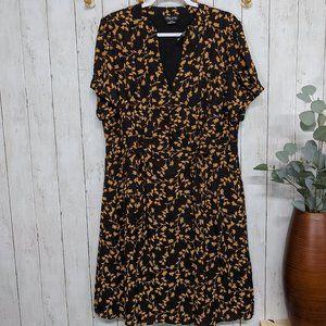 City Chic Black and Gold Midi Dress